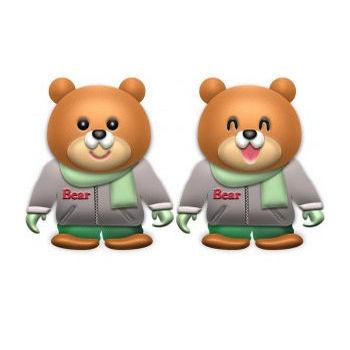 冬服のオスのクマ | イラストが無料の【DDばんく】