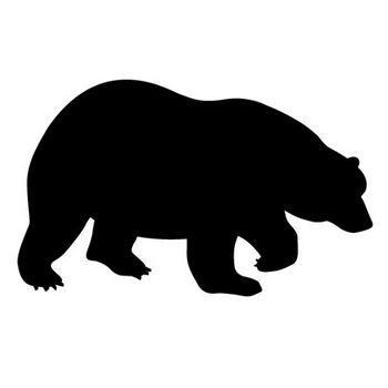 クマ|熊|動物シルエット|無料イラスト素材