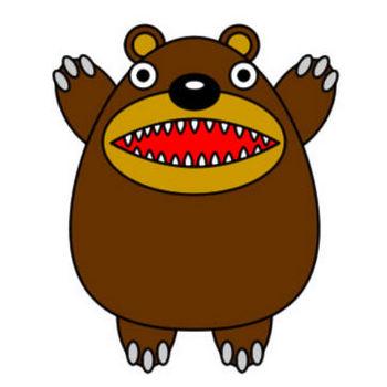 クマのイラスト|フリーイラスト素材 変な絵.net