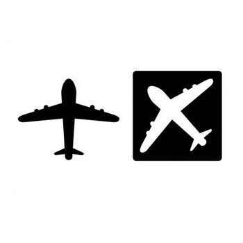 飛行機イラスト・シルエット素材01 | イラスト無料・かわいいテンプレート