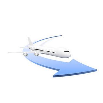 海外出張-飛行機 - 無料イラスト - ビジネス人物