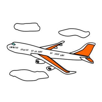 空飛ぶ飛行機のイラスト|フリーイラスト素材 変な絵.net