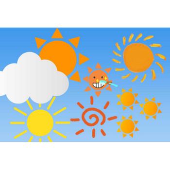 可愛い太陽のイラスト素材!ベクターから手書きまで - チコデザ