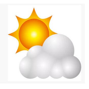 自然 晴れ時々くもり(天気・太陽・雲)(カラー) – 無料で使えるイラスト素材・PowerPointテンプレート配布サイト【素材工場】
