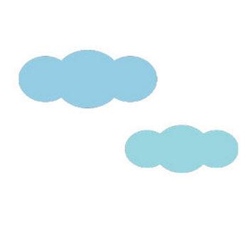 雲のシンプルイラスト <無料> | イラストK