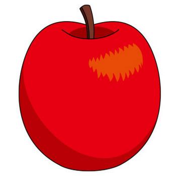 果物01-りんご -食(料理・食材)の無料イラスト素材-イラストポップ