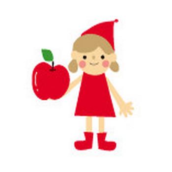 りんごのイラスト・無料イラスト・フリー素材