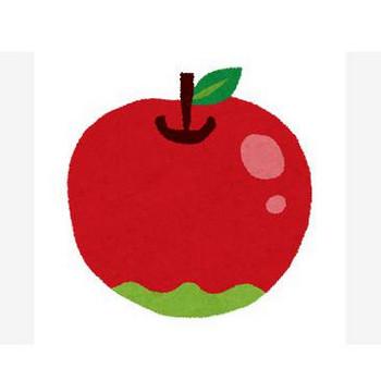 無料イラスト素材:林檎・青リンゴの可愛い画像まとめ(りんご狩り・芯・断面)