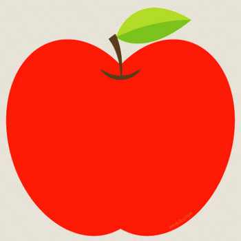 りんごのイラスト : kami-kitaのPOPなBLOG