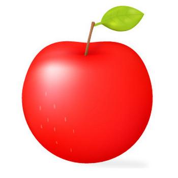 りんごのイラスト5 | 花、植物イラスト Flode illustration (フロデイラスト)
