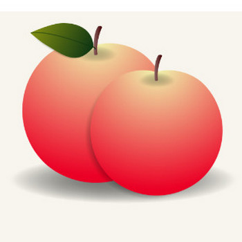 イラスト「りんご」 | 幼稚園・保育園の先生が読むパステルIT新聞