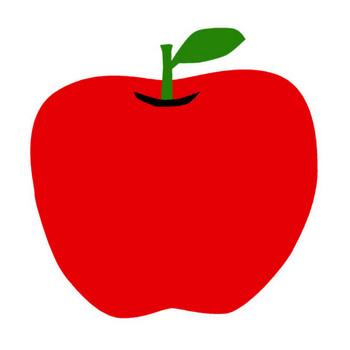 りんごの無料イラスト(オーフリー写真素材)