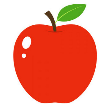 リンゴのイラスト【無料・フリー】