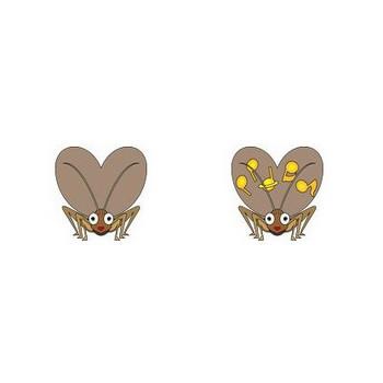 イラストポップ | 昆虫-スズムシコウロギのイラスト無料素材