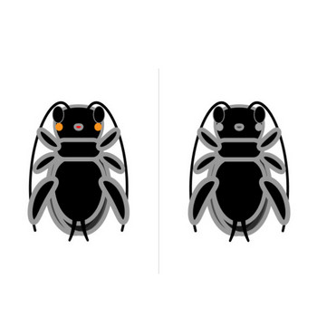 かわいいスズムシの無料イラスト・商用フリー | オイデ43