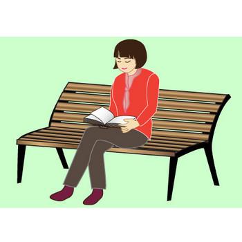 秋|無料イラスト|ダウンロード|PNG/読書3