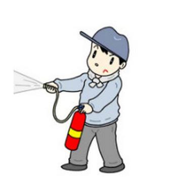 「社会問題・災害 他」無料イラスト・素材(消火訓練・防災訓練・消火器・消火器取り扱い・火災訓練・火災予防)