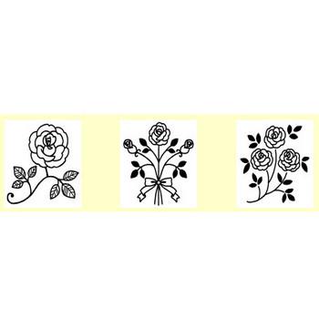 バラ(薔薇)1/花・植物/無料イラスト【白黒イラスト素材】
