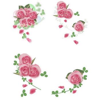 花通信イラスト素材 バラの花