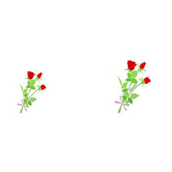 無料イラスト フリー素材 / 赤いバラの花