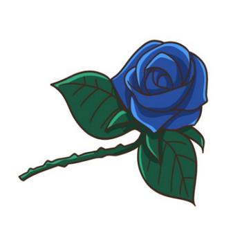 青いバラのイラスト - 無料イラストのIMT 商用OK、加工OK
