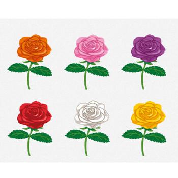 いろいろな色のバラのイラスト   かわいいフリー素材集 いらすとや