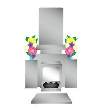 [フリーイラスト] お盆やお彼岸ののお墓参りのセットでアハ体験 - GAHAG | 著作権フリー写真・イラスト素材集