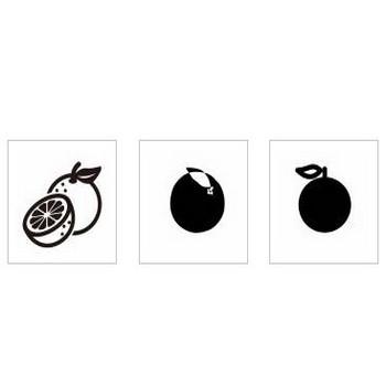 みかん シルエット イラストの無料ダウンロードサイト「シルエットAC」