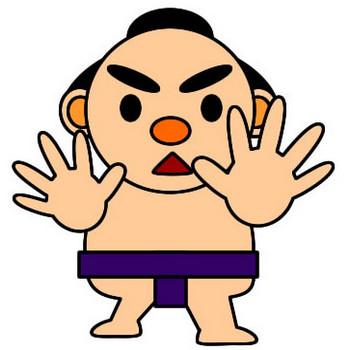 お相撲さんのイラスト|フリーイラスト素材 変な絵.net