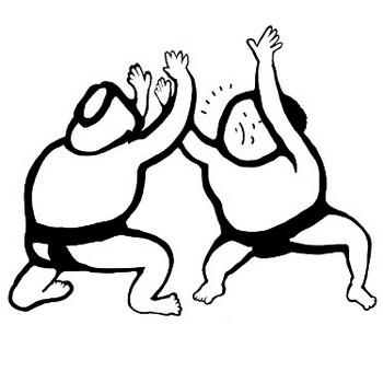 Sumo 張り手をするお相撲さんのイラスト – イラストフリーのガガガ