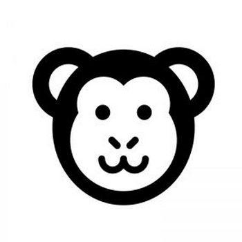 サルのシルエット   無料のAi・PNG白黒シルエットイラスト