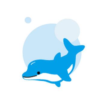 イルカのイラスト-無料イラスト