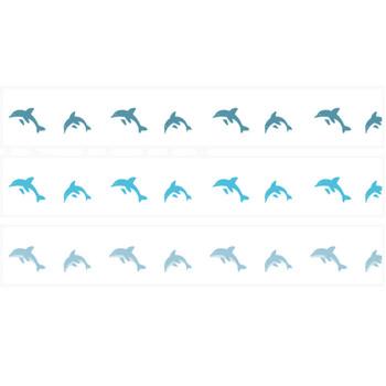 イルカのイラスト線 | 罫線・飾り罫ライン素材 FREE LINE DESIGN