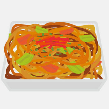 イラスト_お祭り_焼きそば_食べ物_夏 | 商用OK!フリー素材集「ナイスなイラスト」