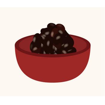 おせち(おせち料理)の 黒豆 フリー イラスト | 商用フリー(無料)のイラスト素材なら「イラストマンション」