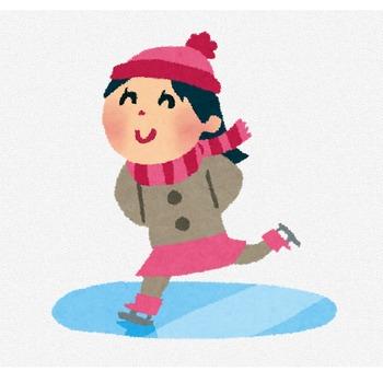 スケートのイラスト「女の子」 | かわいいフリー素材集 いらすとや
