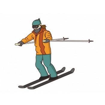 スキーのイラスト素材 | イラスト無料・かわいいテンプレート