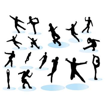 フィギュアスケートシルエットイラストまとめ10選! | イラスト系まとめ | 無料イラスト 素材ラボ