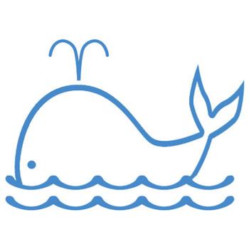 夏のイラストNo.544『フレーム:潮吹きくじら』/無料のフリー素材集【花鳥風月】