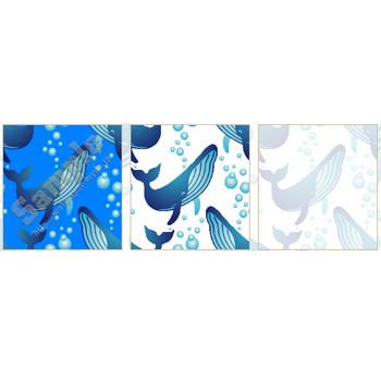 クジラの壁紙用イラスト・条件付フリー素材集(スマホなど携帯電話対応)