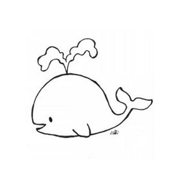 フリーイラスト[クジラ] | きゃらきゃらマキアート
