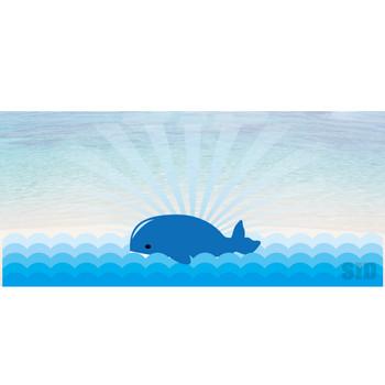 海に浮かぶクジラのイラスト | 【無料配布】南国イラスト ai epsイラレ素材 ダウンロードページ