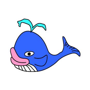 クジラのイラスト|フリーイラスト素材 変な絵.net