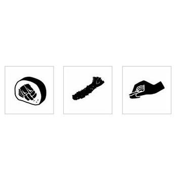 寿司|シルエット イラストの無料ダウンロードサイト「シルエットAC」