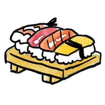 握り寿司のイラスト: ゆるかわいい無料イラスト素材集
