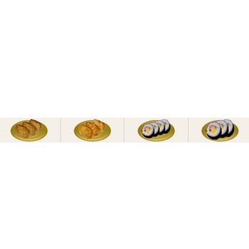 イラスト「お寿司(鮨)」フリー素材|はんこ素材【和風素材】