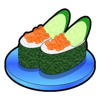 軍艦巻寿司のイラスト|フリー素材 イラストカット.com