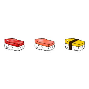 寿司のイラスト | かわいいフリー素材が無料のイラストレイン