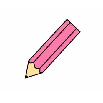 ピンク色の鉛筆のイラスト素材 | イラスト無料・かわいいテンプレート