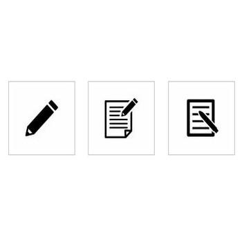 鉛筆|シルエット イラストの無料ダウンロードサイト「シルエットAC」